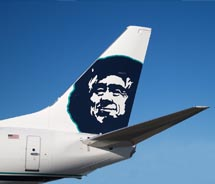 Alaska begins using biofuel. // © 2011 Alaska Airlines