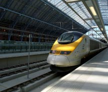 Eurostar train at St. Pancras Station in London // © 2012 Rail Europe, Inc.