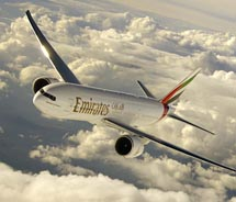 Emirates launched its new service from Dallas/Fort Worth to Dubai. // (C) 2012 Emirates