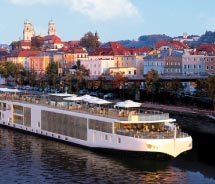 Exterior shot of Viking River Cruise // © 2012 Viking River Cruises