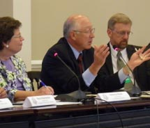 Interior Secretary Ken Salazar (third from left) explained the importance of the U.S National Travel and Tourism Strategy at an Aug. 1 meeting of the...