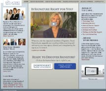 Signature Travel Network website // © 2012 Signature Travel Network