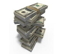 Stacks of money // © 2012 Thinkstock