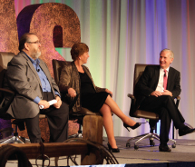 From left to right: Travel Leaders Group CEO Barry Liben, Nexion president Jackie Friedman and Travel Leaders Group chairman Michael Batt // © 2012...