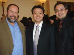 Left to right: Ken Shapiro, TravelAge West Editor-in-Chief; Dawei Wu, China National Tourist Office; Evan Chan, Ritz Tours