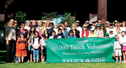 Through Tauck's program, volunteers donate a portion of their vacation time to work on beautification and preservation projects in Yellowstone