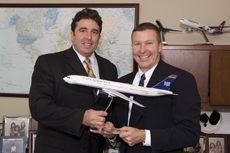 Rami Levi, Israel Ministry of Tourism (left) with Scott Kirby, president of US Airways