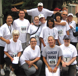Plaza Travel sponsored several of its agents and families in the Run/Walk