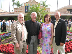 Dick Slaker, Adventures in Travel; Ted Brady, Emirates Airlines sales manager, Western U.S.; Anne Chu, Adventures in Travel; Todd Grigsby, Sr., Emirates Airlines sales executive.