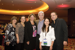 From left to right: Holly Buescher, Starwood; Elsa Gomez, Planet Hollywood; Donna Marcou-Stafford, Planet Hollywood; Jack Mannix, Ensemble Travel Group; Suzanne Hall, Ensemble Travel Group; and Jon Ho