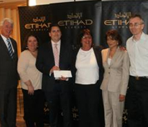 Etihad Airways' promotion winner Eric Hrubant received $90,000. // © 2012 Etihad Airways
