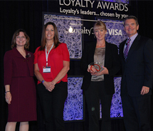 <p>From left to right: Kelly Hlavinka, managing partner, Colloquy; Susan McDowell, loyalty marketing coordinator,  Kimpton Hotels & Restaurants;...