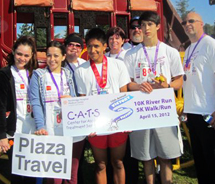 <p>Plaza Travel employees Sandra Sparks, Lauren Cardova and Denise Schaefer join friends and family at the CATS 5K. // © 2012 Sandra Sparks<iframe...