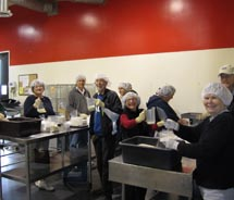 SF Skal members at the San Francisco Food Bank.