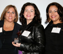 Alexis Romer (left), Ritz-Carlton's vice president, travel industry; with Gina Gabbard, Tzell's vice president of leisure sales; and Stacey Colonna,...