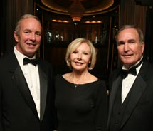 From left to right: Dan Hanrahan, president and CEO, Celebrity Cruises; Michelle Morgan; and Richard Fain, aboard the Celebrity Silhouette.// © 2011...