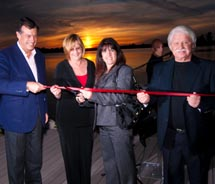 Henri Giscard D'Estaing (Chairman and CEO Club Mediterranee), Linda  Bartz (Vice Mayor Port St. Lucie), JoAnn M. Faiella (Mayor of Port St.  Lucie)...
