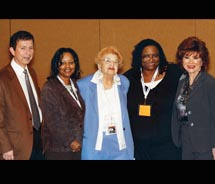 From left to right: Dr. Marc Mancini; Lynn Jacobs, Henrietta Zarovsky, Paula Mitchell Manning, Anita Pagliasso