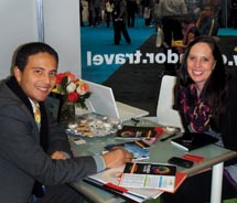 At the show, TAW's Managing Editor, Janeen Christoff (right), met with Ecuador's director of marketing, Jose Vallejo, to get an update on tourism to...
