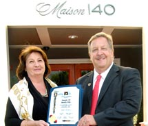 Barry Brucker, the mayor of Beverly Hills, at Maison 140's ribbon-cutting // © 2011