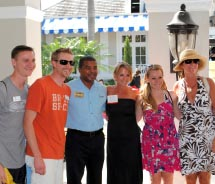 From left to right: Michael Anderson of Avoya Travel; Jeffrey Anderson of Avoya Travel; Dwight Johnson of Unique Vacations; Melissa Krueger of Travel...
