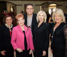 From left to right: Olga Placeres and Wilma Boyd, of Preferred Travel of Naples, with Alex Sharpe, Michelle Morgan and Shary Dyer of Signature Travel...