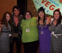 TravelAge West staff gets 'all shook up' with Elvis during the final night of ExecConnect.