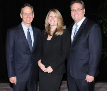 From left: Signature Travel Network's executive vice presidents Ignacio Maza, Karen Yeates and Alex Sharpe