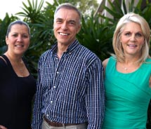 From left: Vicky Garcia, Tom Kruszewski and Michelle Fee are the owners of Cruise Planners – American Express Travel. // © 2013