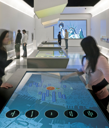 The newly renovated NYC Information Center goes high-tech. // (c) Albert Vecerka/Esto