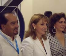 Mexico's Secretary of Tourism Gloria Guevara Manzo (second from left) announced the Mayan World 2012 campaign at this year's Mundo Maya Tourist Fair....