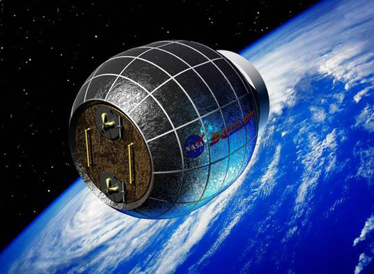 The BEAM inflatable space laboratory, by Bigelow Aerospace, has announced it will provide the ISS with its first expandable module, and is expected to complete the mission by 2015. If successful, Bigelow plans to create private space stations/space hotels shortly thereafter. // (C) 2013  Bigelow Aerospace, LLC