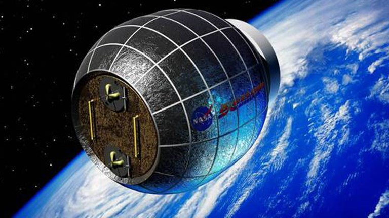 The BEAM inflatable space laboratory// (c) 2013  Bigelow Aerospace, LLC