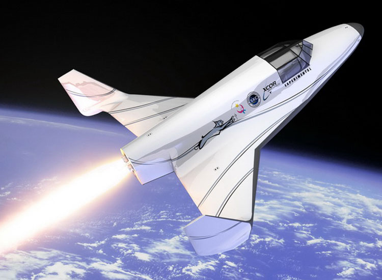 Lynx, a two-seat spacecraft by XCOR Aerospace, anticipates launching its first manned flight by late 2013 or early 2014. Seats will start at $95,000. // (C) 2013 XCOR Aerospace, Inc.