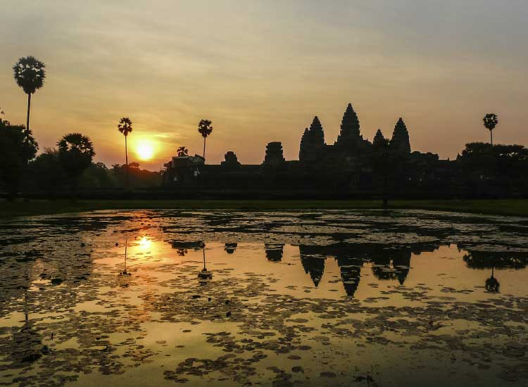 Angkor Archaeological Park spans 154 square miles of ancient temples and overgrown forests. // © 2013 Thinkstock