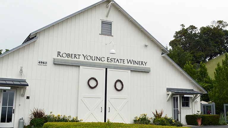 Many renowned wineries line each day's cycling routes, such as Robert Young Estate Winery. // © 2016 Valerie Chen