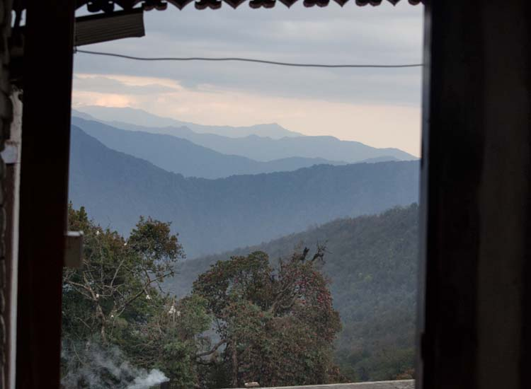 The third night is spent in a teahouse in Tadapani — this is the view from the room. // © 2015 Mindy Poder