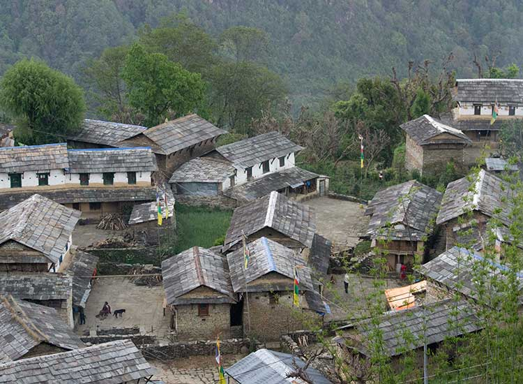 Ghandruk village is home to ethnic Gurung group and many Ghorka fighters come from this town. // © 2015 Mindy Poder