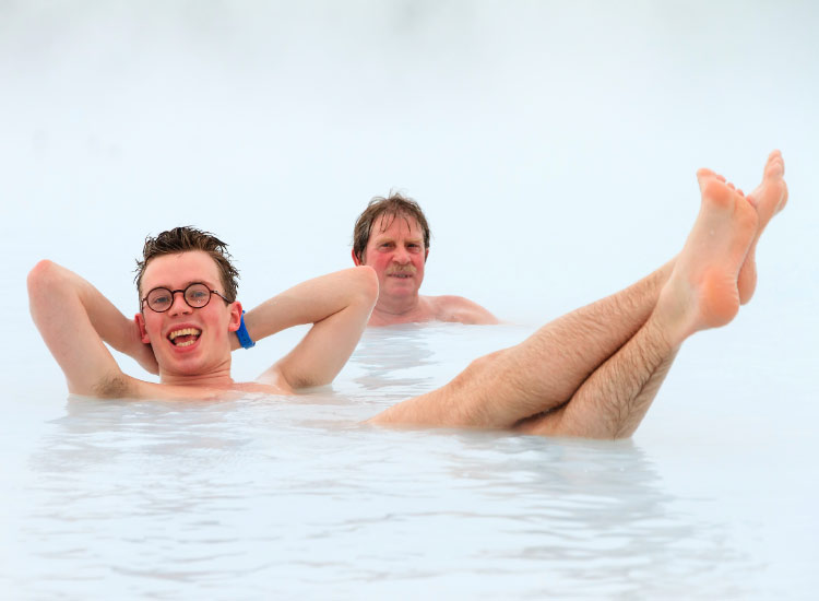 Iceland is a popular spot for polar travel, where soaking in thermal springs is a way of life. // © 2015 iStock