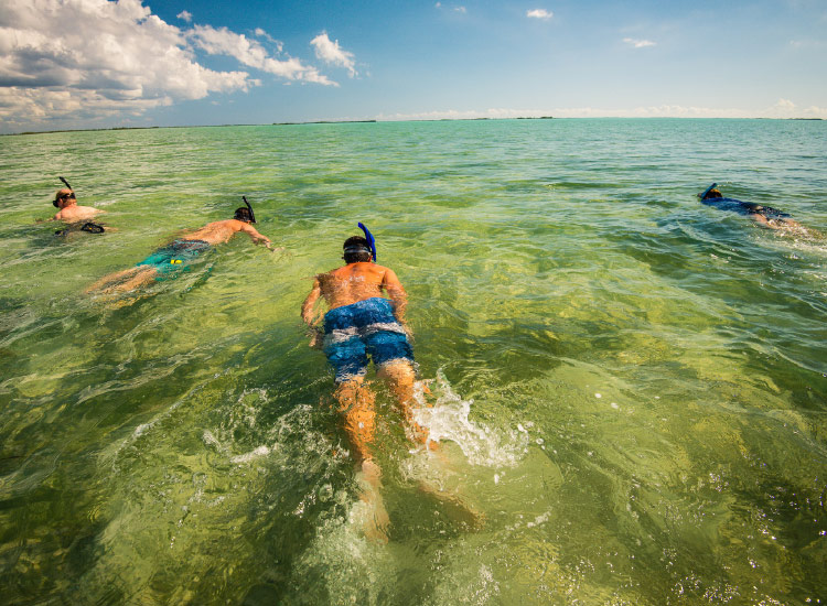 The island is great for watersports, particularly snorkeling. // © 2016 Chad Case Photography