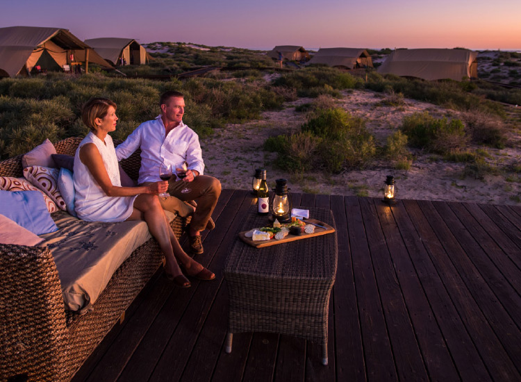 Sal Salis, also in Cape Range, offers romantic glamping in addition to included tours. // © 2016 Tourism Western Australia