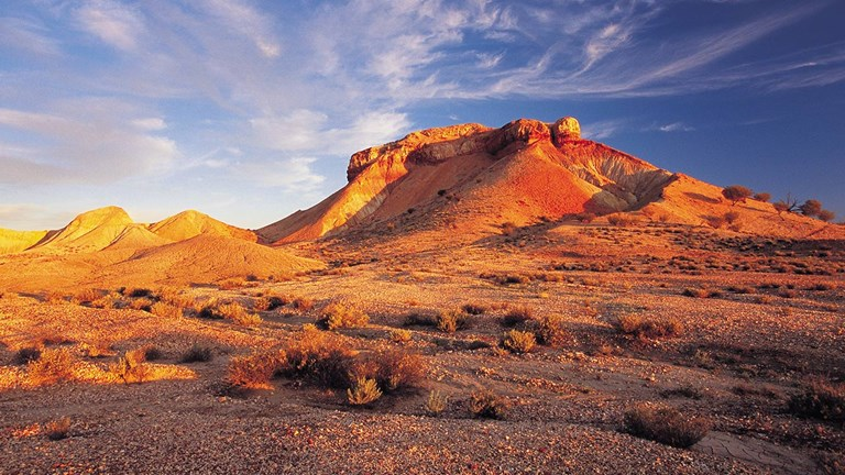 The Simpson Desert is considered the real outback.
