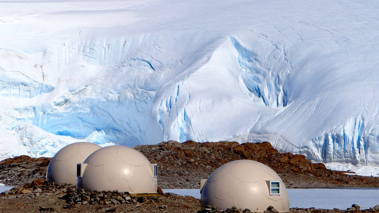 Tour operator White Desert's clients sleep in 20-foot-wide, heated, fiberglass pods.