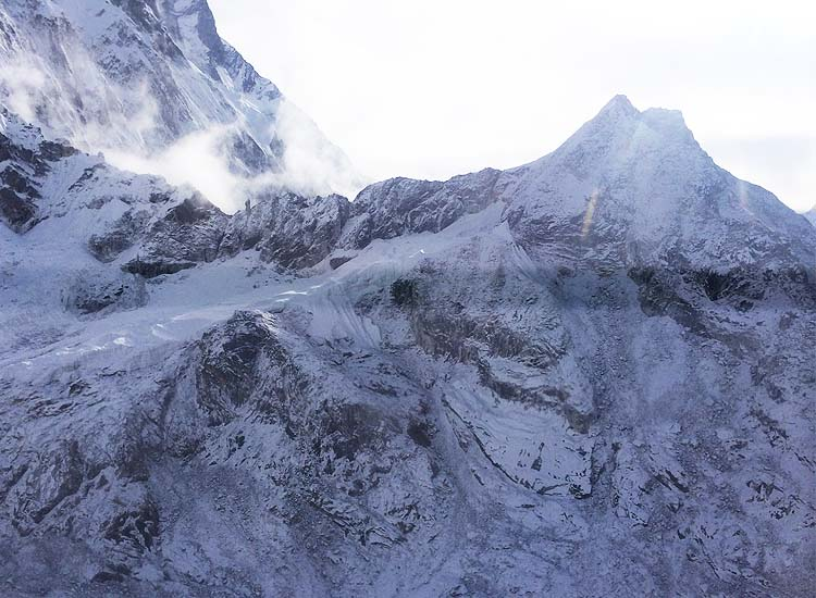 Highlights of the helicopter ride include Mount Everest and Ama Dablam (shown here). // © 2016 Mindy Poder