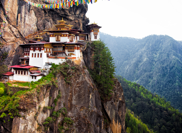 Taktsang Palphug Monastery is one stop on the Snowman Trek. // © 2015 iStock