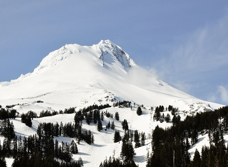In the film, Mount Hood is also depicted as the snowy Sierra Nevada Range. // © 2014 Creative Commons user photosak