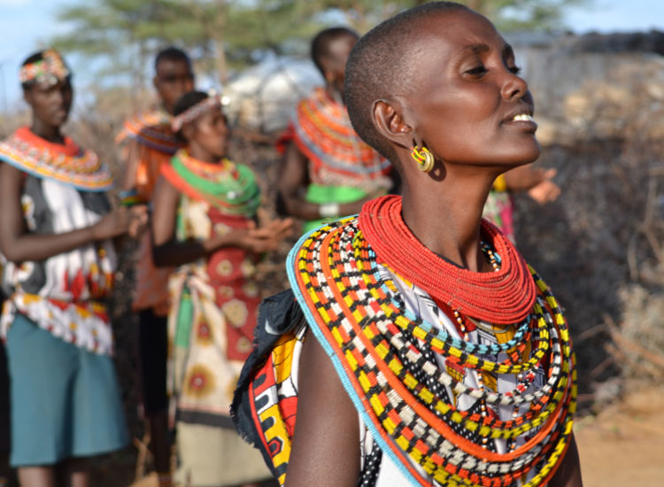 Cousins of the Maasai, the Samburu are famous for their beadwork. // © 2015 Mindy Poder