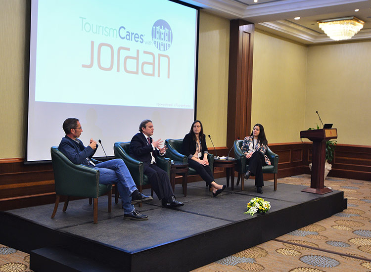 The Tourism Cares With Jordan conference included panel discussions. // © 2018 Tourism Cares