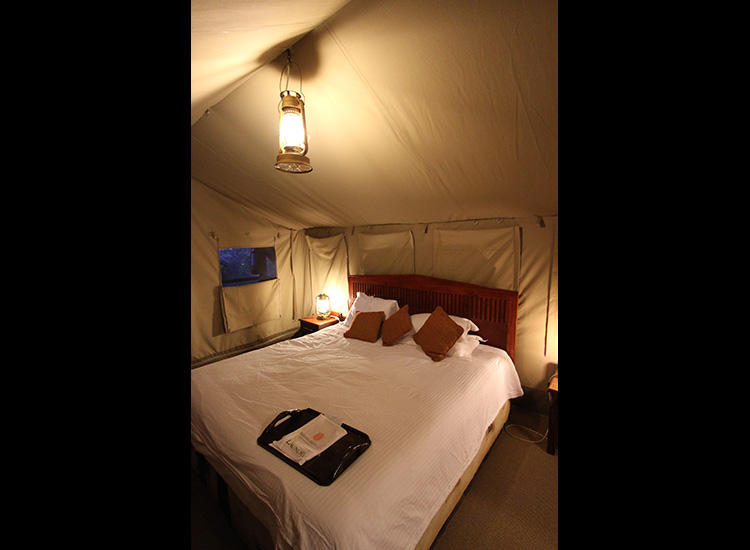 Rooms at Sweetwaters Tented Camp range from zippered tents to cottages. // © 2016 Megan Leader