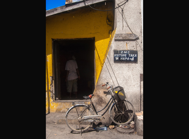 Bicycle in Stone Town, Zanzibar // (c) 2013 Bob Demyan